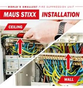 MAUS STIXX - Fire Suppression Sticker #3 - 1301-30