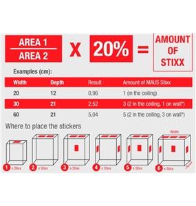 MAUS STIXX - Fire Suppression Sticker #6 - 1301-30